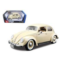1955 Volkswagen Beetle Kafer Beige 1/18 Diecast Car Model by Bburago 120... - $51.45