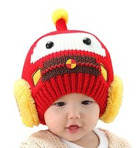 Newborn Baby Hats Lovely Winter Kids Hats RED, 3-24 Months
