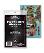 "BCW Postcard Sleeves 3.688"" x 5.75"" Polypropylene Bags 100 Count NEW SEALED - $4.60"