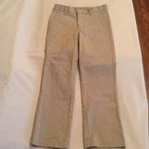 Boys Size 12 Husky Nautica pants uniform khaki flat front Inseam 22 inch - $7.79