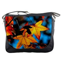Messenger Bag Autumn Leaves Beautiful Nature Leaf Spring Design Animation Fantas - $30.00