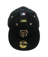 NEW ERA 59FIFTY MLB San Francisco Giants Cap sz 7 3/8 Black Gold - $35.99