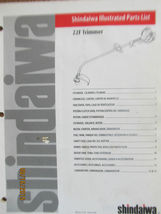 *OEM* Shindaiwa 22, 22F Trimmer Illustrated Parts List part # 61489  - $7.99