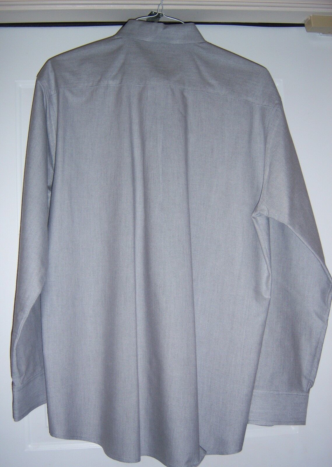 MARKS AND SPENCER Oxford Style Shirt Cotton blend L/S Gray Men's M image 4