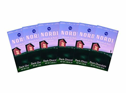 Nordi by Fazer Dark Chocolate Bars, Smooth and Rich Original, 3.35 oz bar, 6 Cou