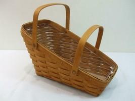 """Longaberger JAL1993 Large Vegetable Basket Plastic Insert Handles 16"""" x ... - $29.65"""