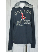 47 Brand BOSTON RED SOX Hooded Long Sleeve Shirt Lightweight Distressed ... - $39.59