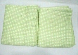 Gingham Check Lime Green 2-PC 102 x 87 Lined Drapery Panel Set(s) - $46.00