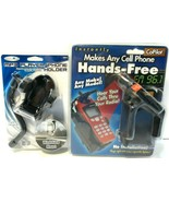 Lot of 2 Cell Phone Holders NEW (one has  Hands-Free Capability) - $9.73
