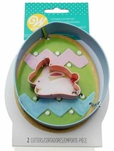 Wilton Easter Egg and Mini Bunny 2 pc Metal Cookie Cutter Set - $4.35