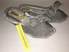 Women's Slippers House Catherine Malandrino Size9-10 Large Velvet Gray W... - £11.98 GBP