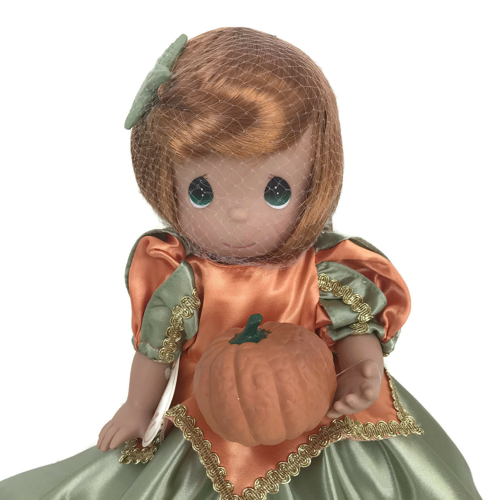 "Precious Moments Disney Parks Exclusive Ariel Boo Green Halloween 12"" Doll"
