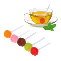 (orange)1 Pcs Cute Lollipop Shape Tea Infuser Silicone Puer Tea Strainer... - €10,58 EUR