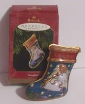 Vintage Hallmark Ornament - DAUGHTER - 1997 - Metal Christmas Stocking -... - $10.90