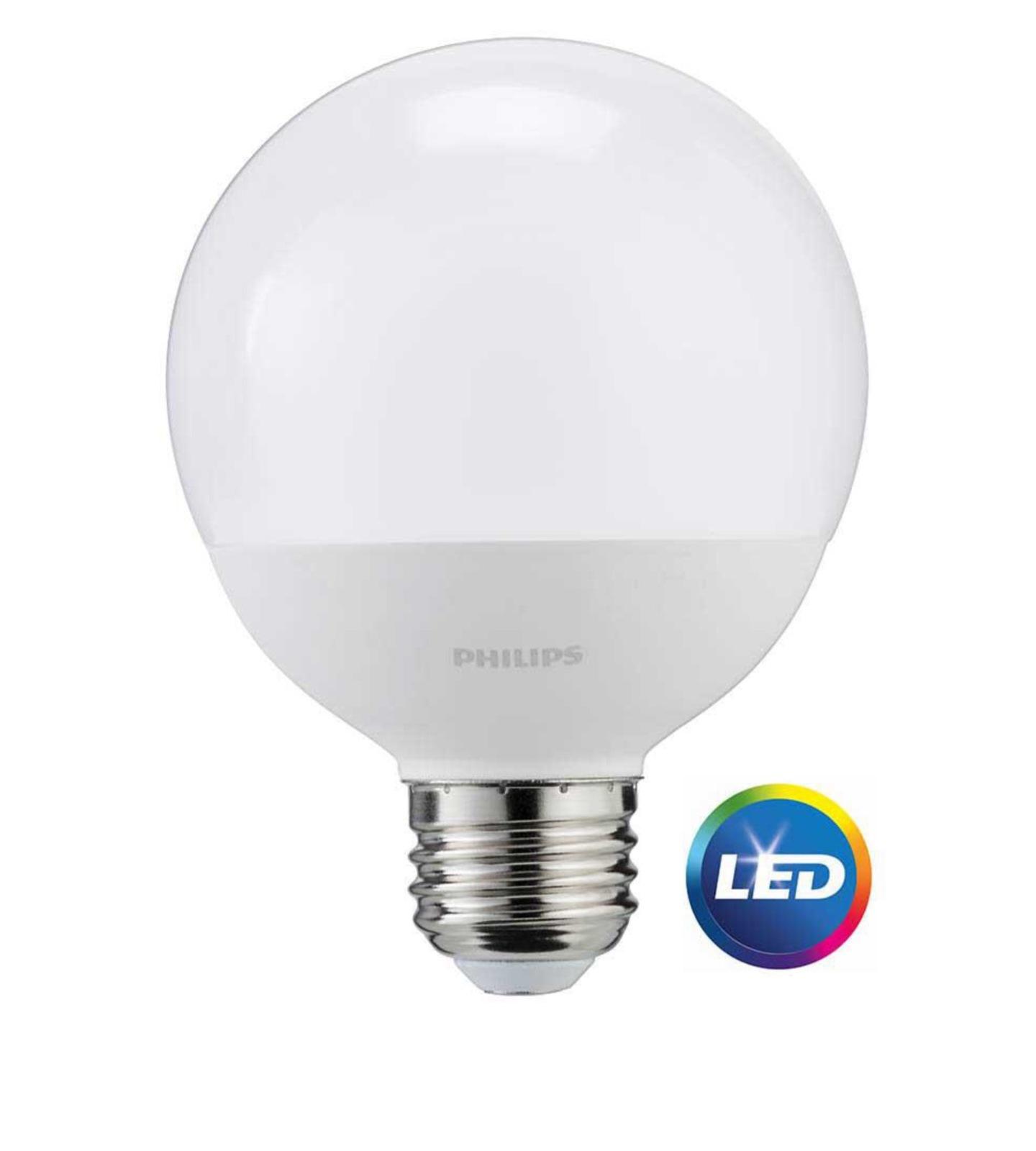 3 Bulbs Philips 60w Equivalent Daylight Frosted G25 Globe Led Light Bulb Light Bulbs