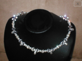 Swarovski Bridal Crystal & Pearl Choker Necklace - $38.61