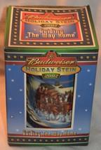 2002 BUDWEISER HOLIDAY BEER STEIN MUG W/ BOX - $37.39