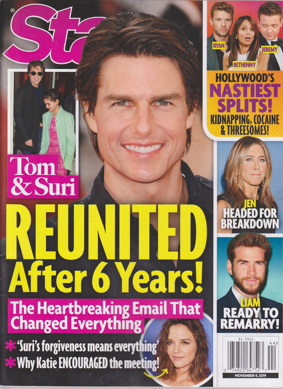 Primary image for Star Tom & Suri Reunited After 6 years Magazine November 4 2019
