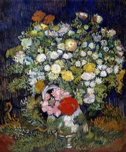 Bouquet of Flowers in a Vase Painting by Vincent Van Gogh Art Reproduction - $32.99+