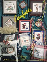 Stoney Creek CONFETTI Book 26 for Counted Cross Stitch Clowns Sayings & ... - $4.99
