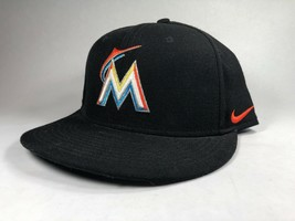 Miami Marlins Nike Black MLB Official Merchandise Snapback Flat Baseball... - $14.84