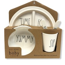 Rae Dunn Baby 5 Piece Gift Set TIME FOR YUMMY SIP - $35.99