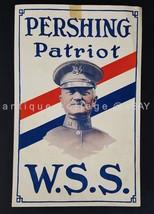 """antique WWI PERSHING PATRIOT WAR SAVINGS STAMP POSTER wss BLACK JACK 7""""x11"""" - $124.95"""