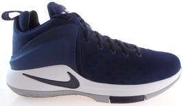 NIKE ZOOM WITNESS MEN'S NAVY/GREY BASKETBALL SHOES #852439-404 - $75.59