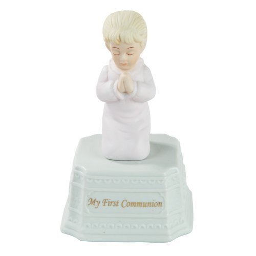 "Primary image for Pacific Giftware Fine Porcelain ""My First Communion"" Girl Music Box, 5.25"" H, Wh"
