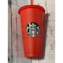 Starbucks red cold drink tumbler straw venti - $14.85