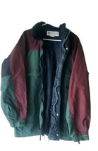 Vintage Columbia Gizzmo Windbreaker Jacket Mens XL Green Burgundy Navy N... - $39.59