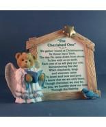 Cherished Teddies Nativity Prayer Plaque The Cherished One - $15.98