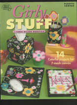 Girly Stuff 14 Plastic Canvas Pattern 7 mesh canvas  Am. School of needl... - $3.47