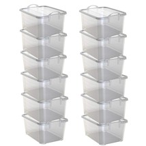 Life Story Clear Stackable Closet & Storage Box 55 Quart Containers, 12 ... - $120.27