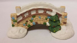Dickens Collectables: Porcelain Stone Bridge Christmas Village Accessory Holiday - $19.34