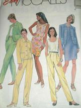McCalls 8668 Misses Unlined Jacket Top Dress Pants 6-10 U/C Sewing Pattern VTG - $12.71