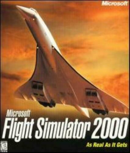 MS Flight Simulator 2000 PC CD pilot fly plane aircraft aviation simulation game