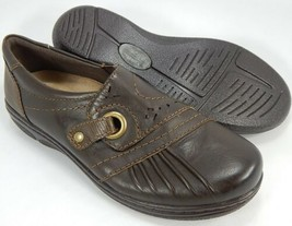Earth Origins Glendale Gabrielle Sz 10 M EU 42 Womens Leather Slip-On Shoes Bark - $49.45