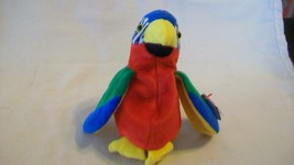 Jabber the Parrot Ty Beanie Baby DOB October 10, 1997 Wrong Tush Tag Date - $6.92
