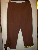 Alfred Dunner Brown Pants - 18W -2 Pockets - Elastic Waist  - $5.99