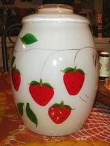 VTG BARTLETT COLLINS STRAWBERRY COOKIE BISCUIT JAR CREAMER SUGAR FLORAL ... - $327.99