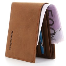 High-End Wallet for Men Genuine Cowhide Leather with RFID Blocking (Brown) - $24.44