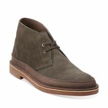 Clarks Bushacre Rand Men's Boots Dark Green Suede 26112319 - $97.95