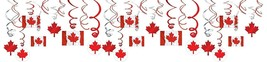 Amscan 670635 Party Supplies Canadian Flag Swirl Decorations 30ct, One S... - $17.94