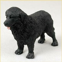 NEWFOUNDLAND DOG Figurine Statue Hand Painted Resin Gift Pet Lovers - $17.25