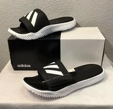 New Adidas Alphabounce Slides/Sandals Black/White (BA8775) Men's Size 13 - $32.95