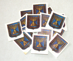 Lot of 10 X Israel State Symbol 7 Branch Menorah Small Image 1960's Judaica