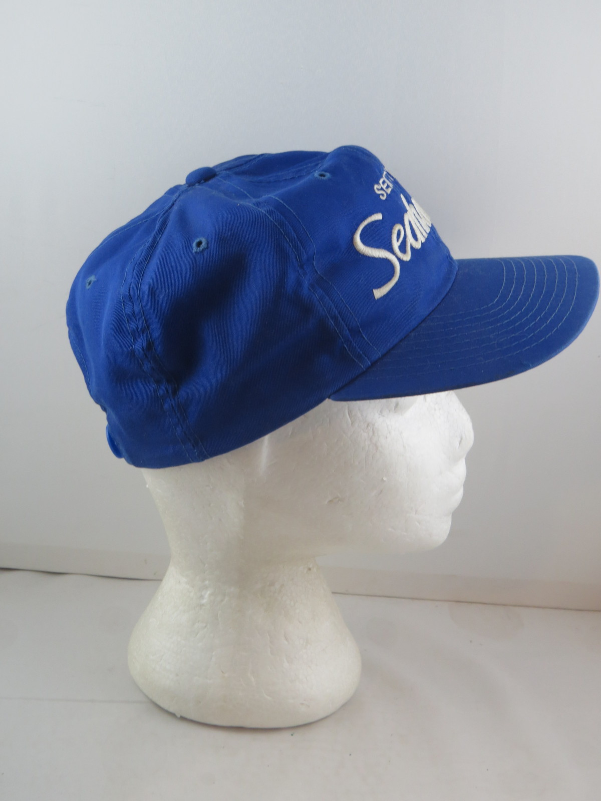 Seattle Seahawks Hat (VTG) - Sports Specialties Twill Script - Adult Snapback