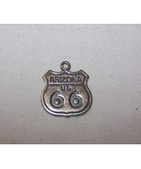 Sterling Silver Arizona Highway 66 Charm-3/4 inch tall, 5/8 inch wide - $6.50