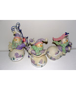 Vintage Cheerful Snowmen Collectible set of Three Figurines - $40.00
